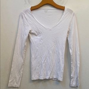 J crew solid white fitted tee